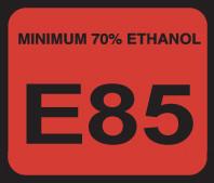 D-20-E85 Octane & Cetane Rating Decal - E85...