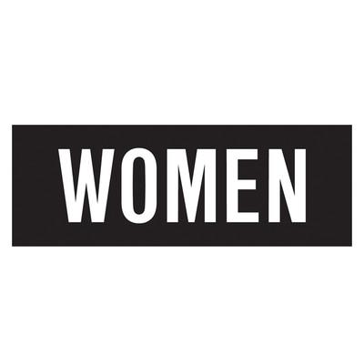 D-212  WOMEN DECAL WH/BLK
