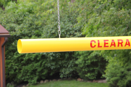 """Economy Clearance Bar 5.00"""" OD – Yellow, open-ends"""