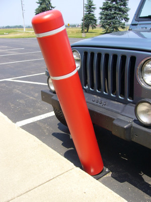 "BollardFlex Natural Ground Installation Parking Bollard with 52"" Cover"