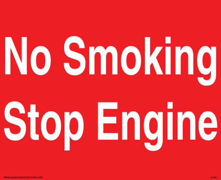 D-36L Fueling Instructions Decal - NO SMOKING...