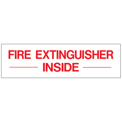 D-220 Emergency & Fire Prevention Decal - FIRE EXTINGUISHER...