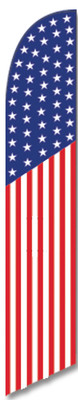 FF-312-036 - USA FLAG Swooper Feather Flag for Outdoor Use