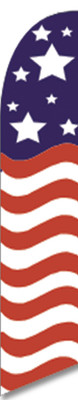 FF-312-037 - USA FLAG Swooper Feather Flag for Outdoor Use