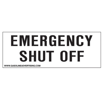 D-223 Emergency & Fire Prevention Decal - EMERGENCY SHUT...