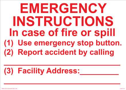 CVD15-187 - EMERGENCY INSTRUCTIONS...