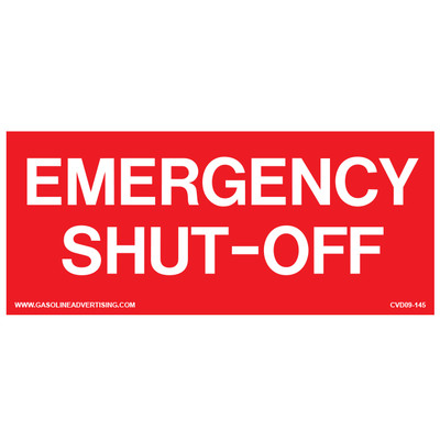 D-226 Emergency & Fire Prevention Decal - EMERGENCY SHUT-OFF