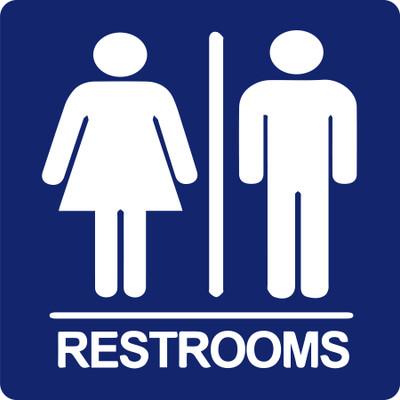 CAS18-019 Aluminium Sign - Restrooms