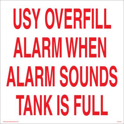 CAS18-050 Aluminium Sign - USY Overfill...