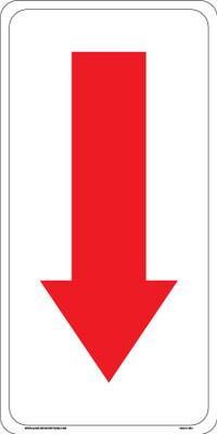 CAS18-064 Aluminium Sign - Down Arrow
