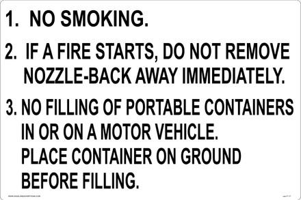 CAS17-17 Aluminium Sign - No Smoking...