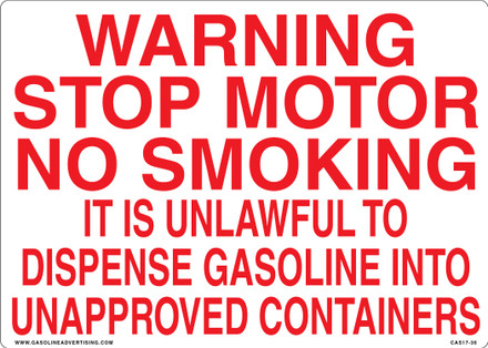 CAS17-36 Aluminium Sign - Warning...