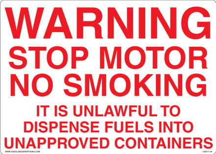 CAS17-44 Aluminium Sign - Warning...