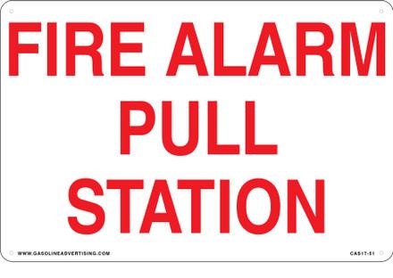 CAS17-51 Aluminium Sign - Fire Alarm...