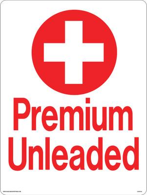 CAS15-04 Aluminium Sign - Premium Unleaded