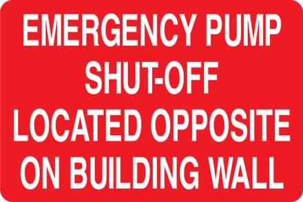 CAS15-07 Aluminium Sign - Emergency Pump...