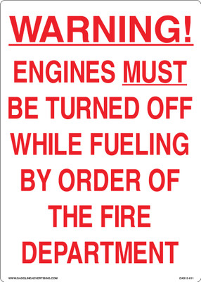 CAS15-11 Aluminium Sign - Warning...