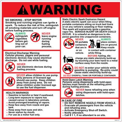 CAS15-12 Aluminium Sign - Warning...