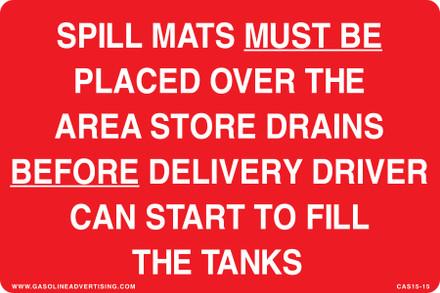 CAS15-15 Aluminium Sign - Spill Mats...