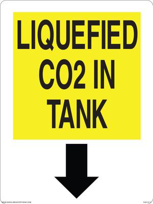 CAS15-17 Aluminium Sign - Liquefied Tank...