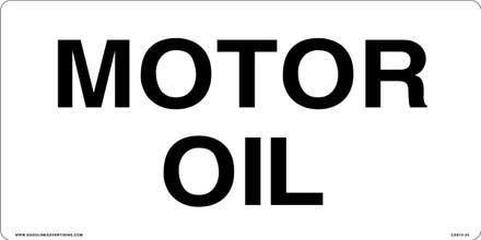 CAS15-25 Aluminium Sign - Motor Oil