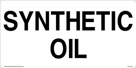 CAS15-26 Aluminium Sign - Sunthetic Oil