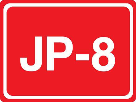 CAS15-27 Aluminium Sign - JP-8
