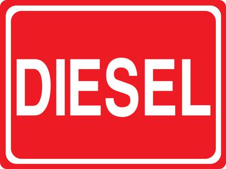 CAS15-28 Aluminium Sign - Diesel