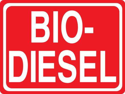 CAS15-30 Aluminium Sign - Bio-Diesel