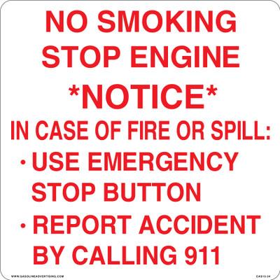 CAS15-34 Aluminium Sign - No Smoking...