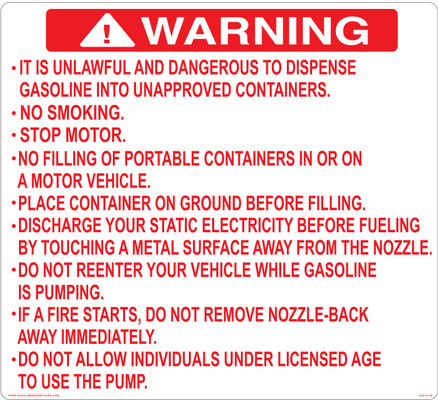 CAS15-35 Aluminium Sign - Warning...