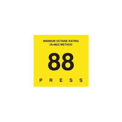 D-29-88 Octane & Cetane Rating Decal - MINIMUM OCTANE...