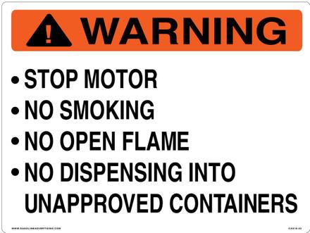 CAS16-02 Aluminium Sign - Warning...