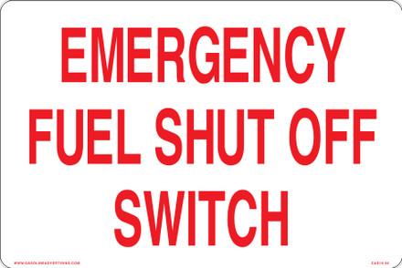 CAS16-04 Aluminium Sign - Emergency Fuel...