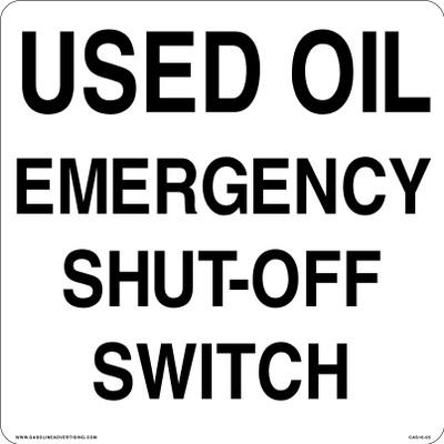 CAS16-05 Aluminium Sign - Used Oil...