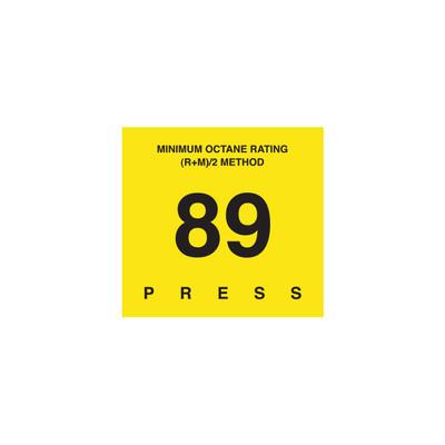 D-29-89 Octane & Cetane Rating Decal - MINIMUM OCTANE...