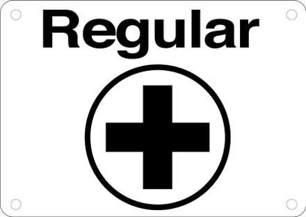 CAS16-11 Aluminium Sign - Regular