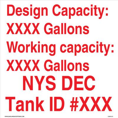 CAS16-15 Aluminium Sign - Design Capacity...