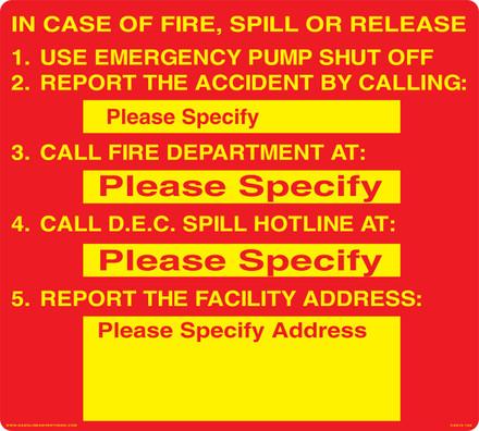 CAS16-16A Aluminium Sign - In Case Of...