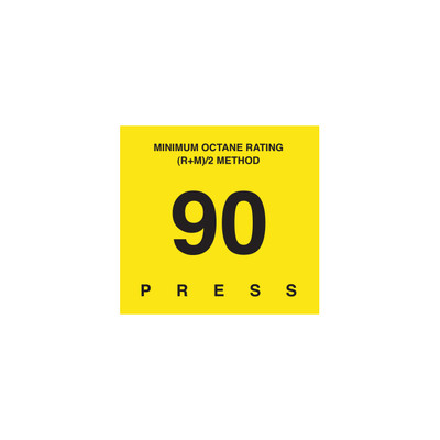 D-29-90 Octane & Cetane Rating Decal - MINIMUM OCTANE...