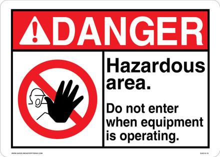 CAS16-19 Aluminium Sign - Danger...