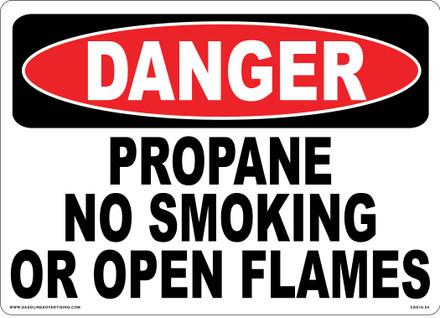 CAS16-24 Aluminium Sign - Danger...