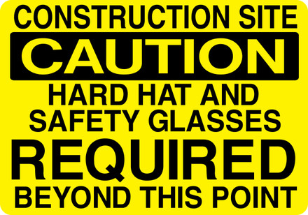 CAS16-25 Aluminium Sign - Construction Site...