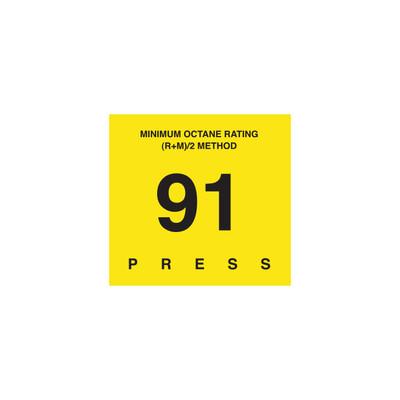 D-29-91 Octane & Cetane Rating Decal - MINIMUM OCTANE...