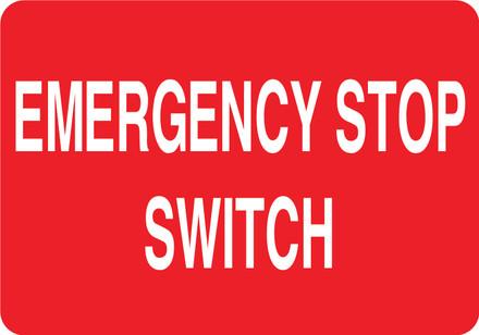 CAS16-29 Aluminium Sign - Emergency Stop...