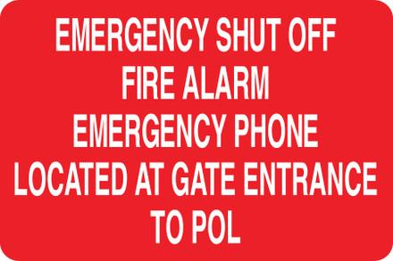 CAS16-30 Aluminium Sign - Emergency...