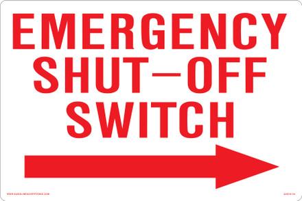 CAS16-34 Aluminium Sign - Emergency...