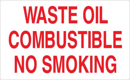 CAS16-41 Aluminium Sign - Waste Oil...
