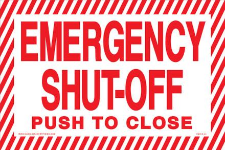 CAS16-44 Aluminium Sign - Emergency...