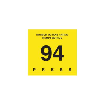 D-29-94 Octane & Cetane Rating Decal - MINIMUM OCTANE...